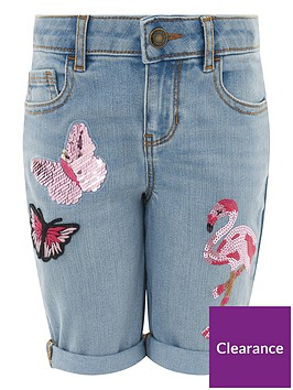 monsoon-flamingo-butterfly-embellished-short