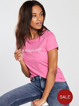 calvin-klein-jeans-institutional-logo-slim-fit-t-shirt-wild-orchid