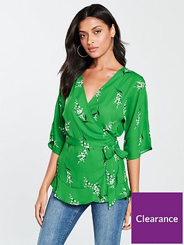 v-by-very-kimono-sleeve-wrap-blouse-green-floral