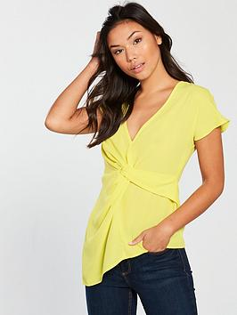 v-by-very-twist-front-top-yellow