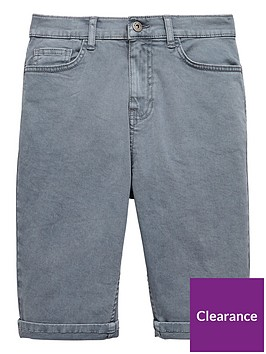 v-by-very-boys-denim-roll-up-shorts-grey