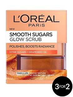 loreal-paris-smooth-sugar-glow-grapeseed-face-and-lip-scrub-50ml