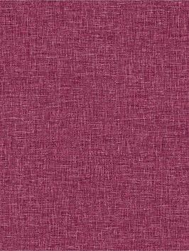 ARTHOUSE Arthouse Linen Texture Wallpaper - Raspberry Picture