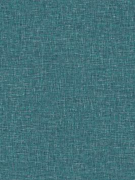 ARTHOUSE Arthouse Linen Texture Teal Wallpaper Picture