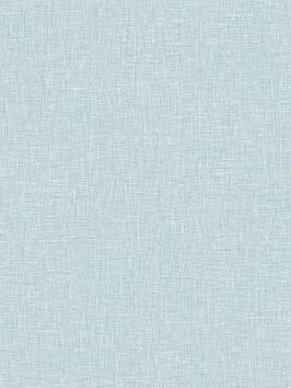 ARTHOUSE Arthouse Linen Texture Wallpaper - Vintage Blue Picture