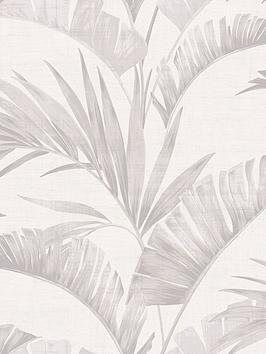ARTHOUSE  Arthouse Banana Palm Chalk Grey Wallpaper