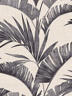 arthouse-banana-palm-charcoal-wallpaper