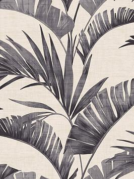 ARTHOUSE Arthouse Banana Palm Charcoal Wallpaper Picture