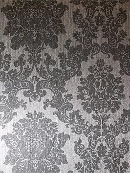 ARTHOUSE Arthouse Foil Damask Silver Wallpaper Picture