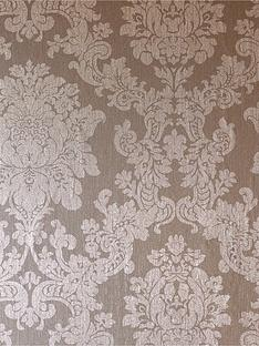 ARTHOUSE Foil Damask Rose Gold Wallpaper