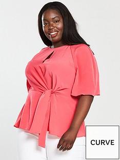 v-by-very-curve-knot-front-kimono-blouse