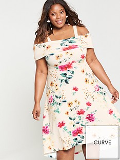 v-by-very-curve-bardot-dipped-hem-dress-floral-print