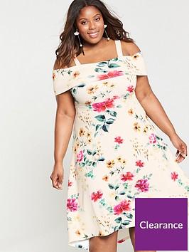 v-by-very-curve-bardot-dipped-hem-dress-floral-print