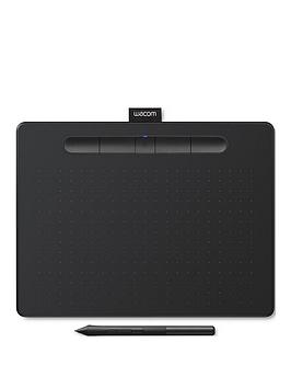 Wacom Intuos Pen Tablet In Black (Medium). Included Wacom Intuos Stylus. Bluetooth Connectivity. Compatible With Windows And Apple