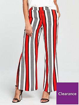 river-island-river-island-wide-leg-soft-trousers--red-stripe