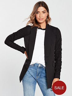 v-by-very-ruched-sleeve-jacket-black