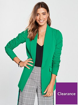 v-by-very-ruched-sleeve-jacket-green