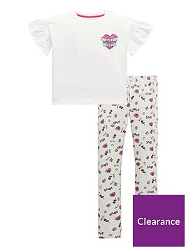 v-by-very-girls-039girl-code039-sketch-print-pyjamas