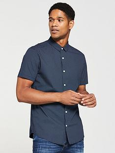 v-by-very-mens-slim-short-sleeve-printed-shirt-navy