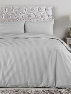 Hotel Collection Luxury 300 Thread Count Soft Touch Sateen Stripe Duvet  Cover Set 2f39db996