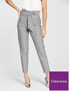 miss-selfridge-linen-stripe-trouser