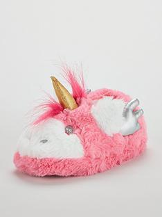 mini-v-by-very-girls-little-unicorn-fluffy-3d-slipper