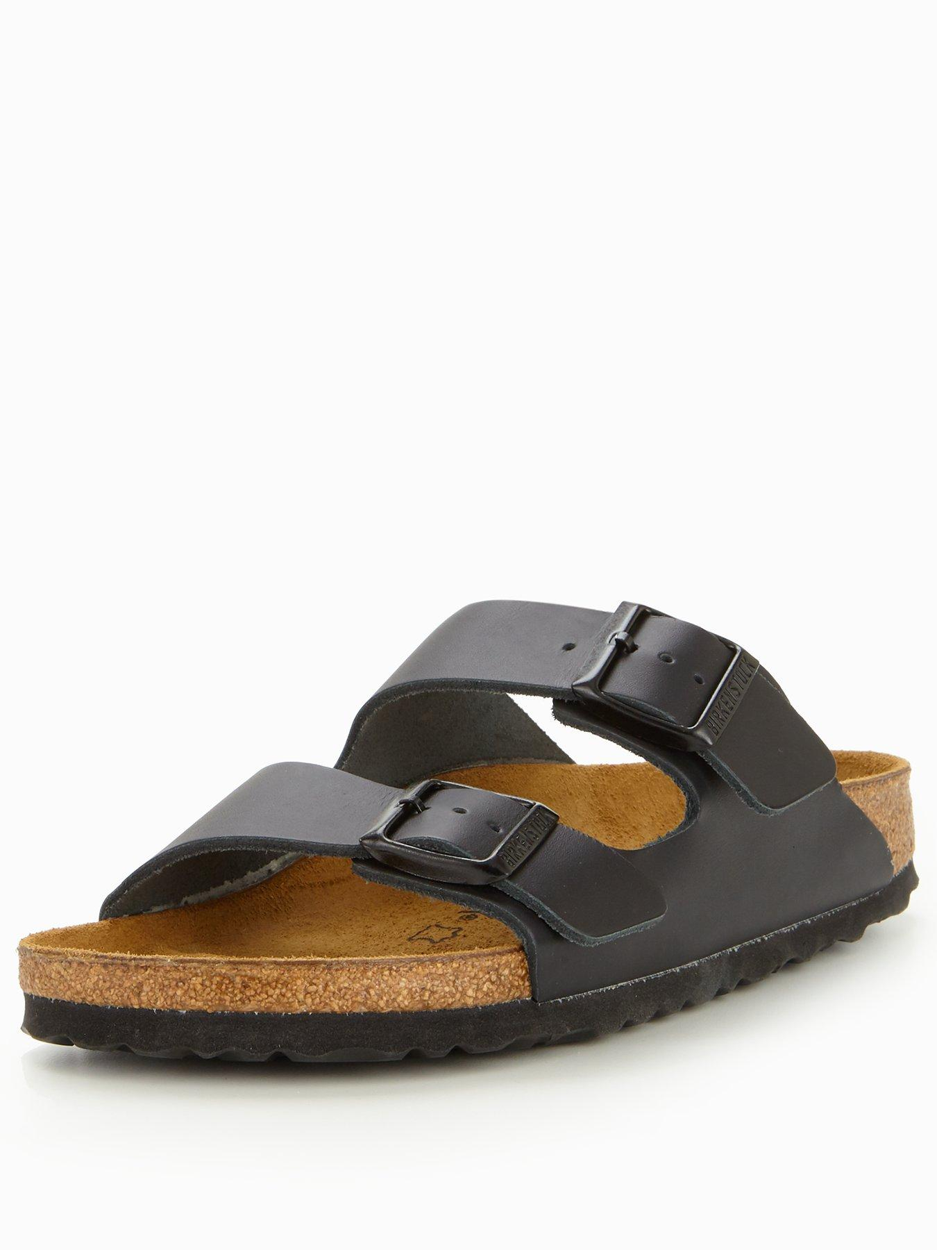 Black Sandal Slide Narrow Arizona Strap Two 7ygmbIvYf6