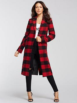 michelle-keegan-checked-edge-to-edge-coat