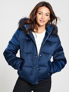 michelle-keegan-short-padded-coat-navy