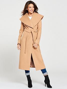 Michelle Keegan Michelle Keegan Wrap Coat - Camel Picture