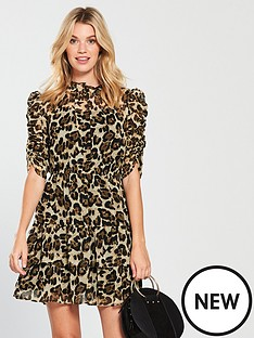 v-by-very-ruched-sleevenbspfrill-tea-dress-leopard-print
