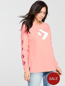 converse-star-chevron-long-sleeve-tee-pinknbsp
