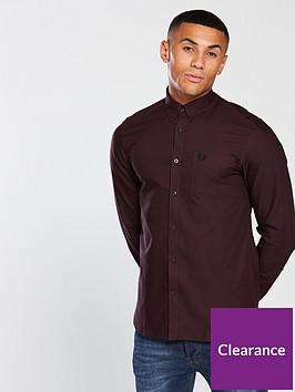 fred-perry-mens-classic-long-sleeve-oxford-shirt-deep-mahogany