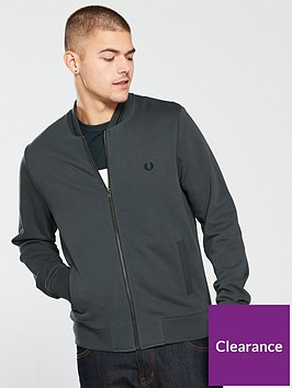 fred-perry-mens-bomber-neck-zip-through-sweat-charcoal