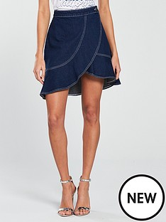 v-by-very-stitch-detail-wrap-over-skirt-with-ruffle-hem-indigo