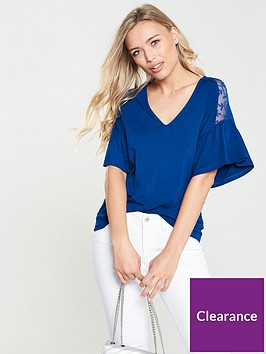 v-by-very-lace-shoulder-detail-top-blue