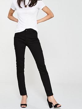 V by Very V By Very Ashton Mid Rise Slim Leg - Black Picture