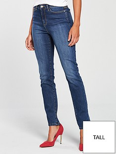 v-by-very-valuenbsptall-isabelle-high-rise-slim-leg-jeans-mid-wash