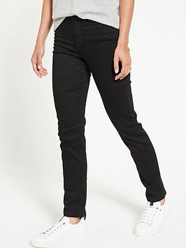 V by Very V By Very Isabelle High Rise Slim Leg Jeans - Black Picture