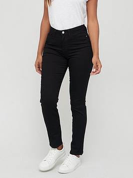 V by Very V By Very Tall Isabelle High Rise Slim Leg Jean - Black Picture