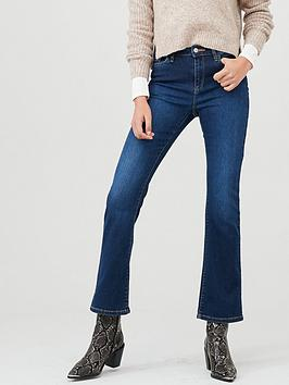 V by Very V By Very Harper High Rise Bootcut - Dark Wash Picture