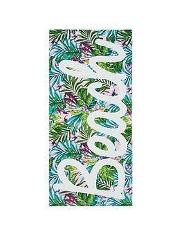 catherine-lansfield-tropical-beach-towel