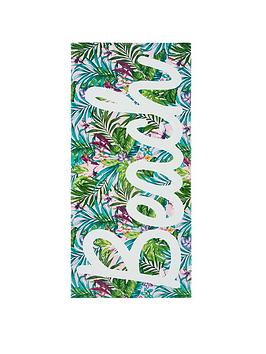 Catherine Lansfield Catherine Lansfield Tropical Beach Towel Picture