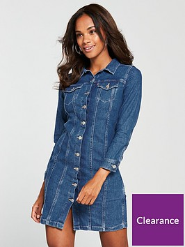 levis-aubrey-western-denim-dress-blue