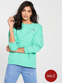 levis-oversized-crew-neck-logo-sweatshirt-green
