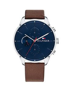 tommy-hilfiger-tommy-hilfiger-navy-multi-dial-brown-leather-strap-mens-watch