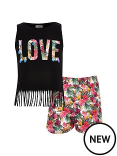 river-island-girls-black-039love039-vest-and-shorts-outfitset