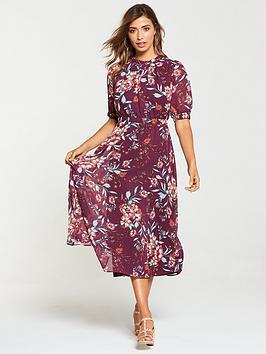 v-by-very-printed-elasticated-midi-dress-floral-print