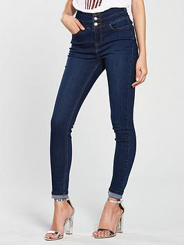 V by Very V By Very New Macy High Waisted Skinny Jean - Dark Wash Picture