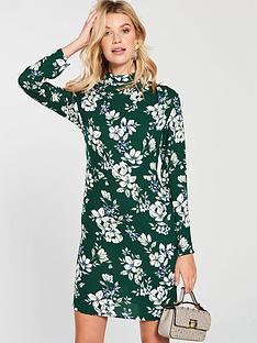 v-by-very-gathered-neckline-tunic-printed